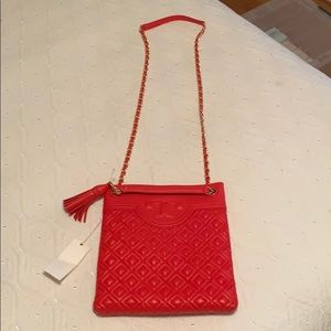 NWT Tory Burch shoulder crossbody red handbag